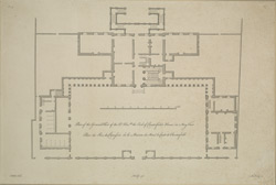Plan of the ground floor of the Rt. Honble [sic] the Earl of Chesterfield's House in May Fair